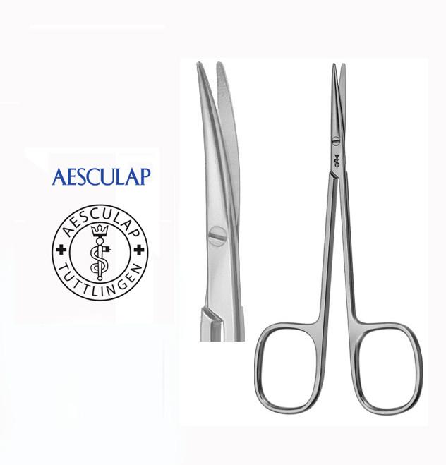 Ножницы хирургические операционные тупоконечные изогнутые  Aesculap BC106R