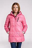 Зимняя куртка женская подростковая распродажа Avecs розовый 36
