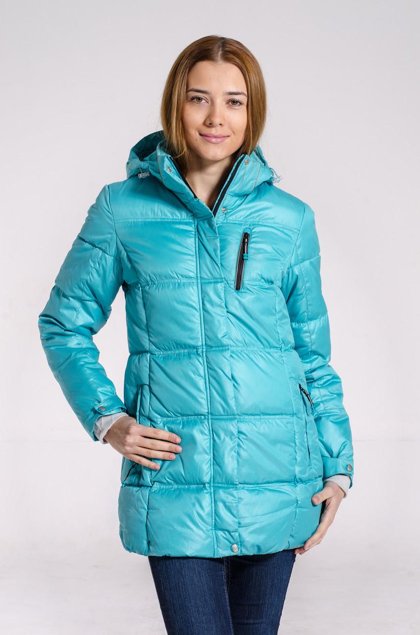 Зимняя куртка женская подростковая распродажа Avecs бирюза