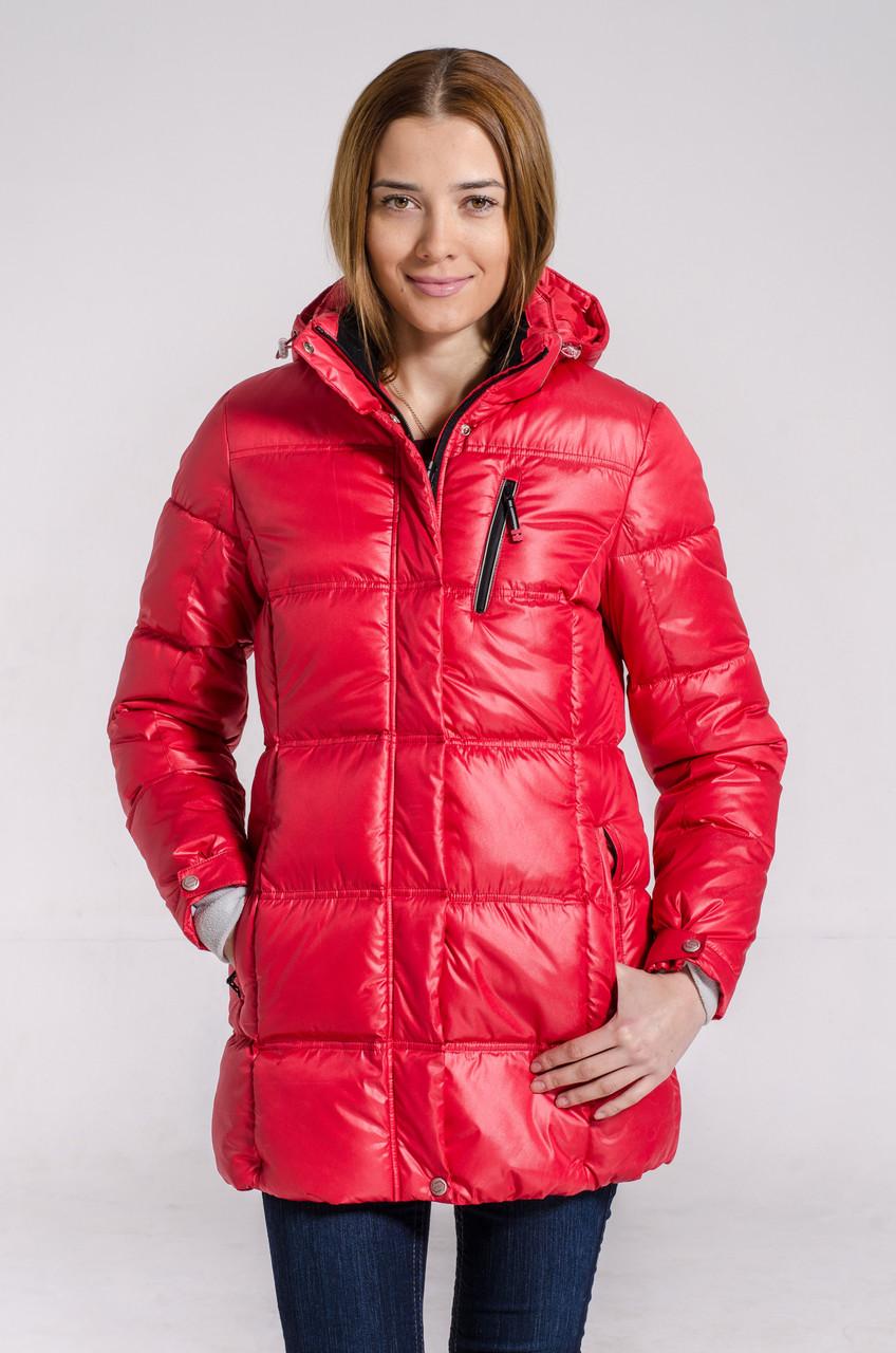Зимняя куртка женская подростковая Avecs 7034123 красный