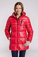 Зимняя куртка женская подростковая распродажа Avecs красный 40