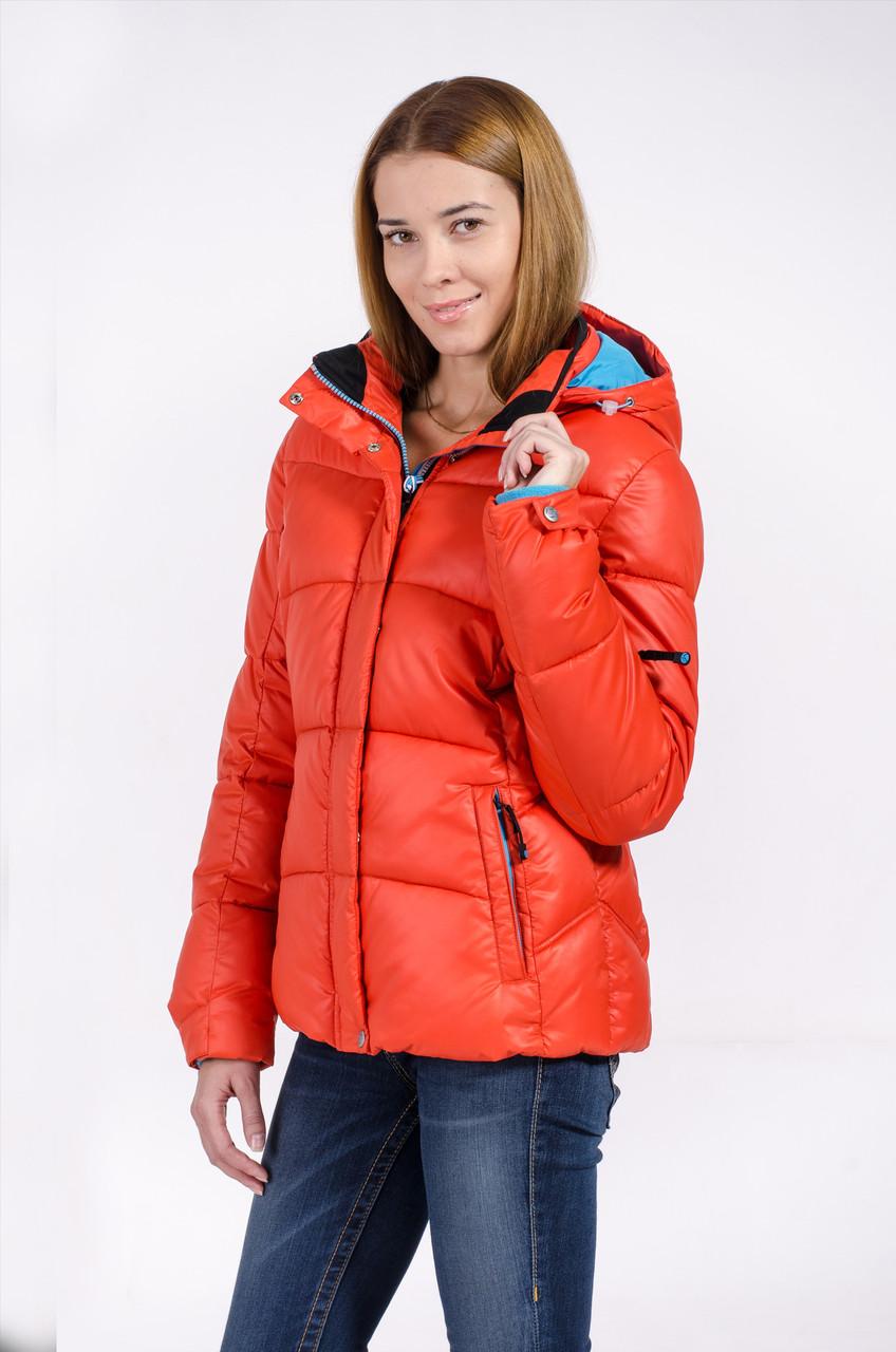 Зимняя куртка женская распродажа Avecs оранжевый