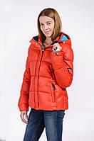 Зимняя куртка женская распродажа Avecs оранжевый 48 (L)