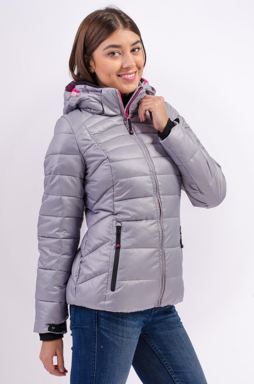 Зимняя куртка женская распродажа Avecs серый