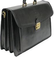 Чоловічий портфель зі шкіри Rovicky AWR-3 чорний, фото 1