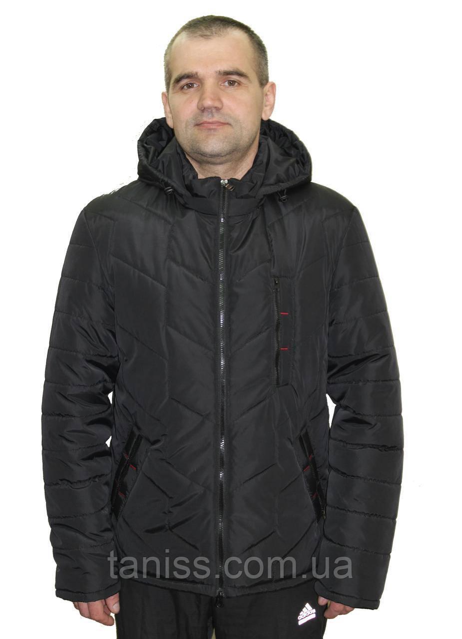 Стильная,демисезонная,мужская куртка,капюшон съемный, размеры 48-62,чорный(01)чоловіча демісезонна куртка