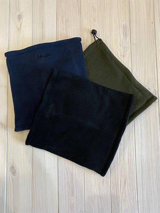 Бафф зимний черный, синий, хаки Intruder, теплый Бафф, фото 2