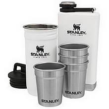Набір Stanley Adventure (4 чарки х 0,059 л + футляр-фляга + фляга 0,236 л), білий
