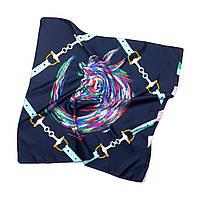Платок шейный из шелка темно-синий (Ш-510-2)