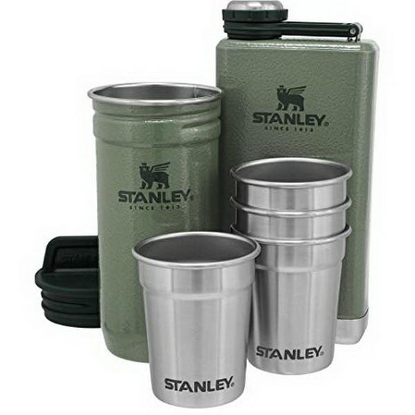 Подарочный набор Stanley Adventure (4 рюмки х 0,059л + футляр + фляга 0,236л), зеленый