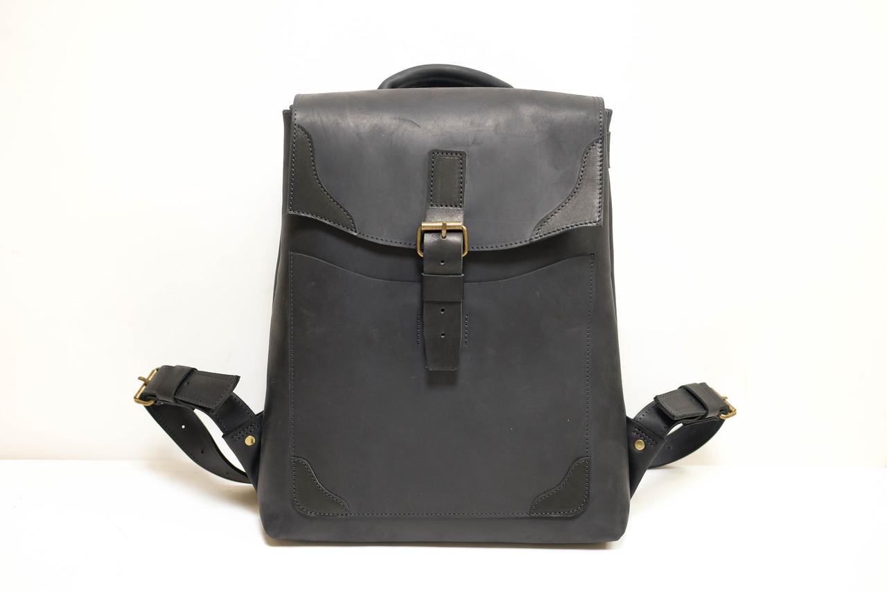 """Рюкзак кожаный """"Кантри"""" кожа винтаж цвет Черный"""