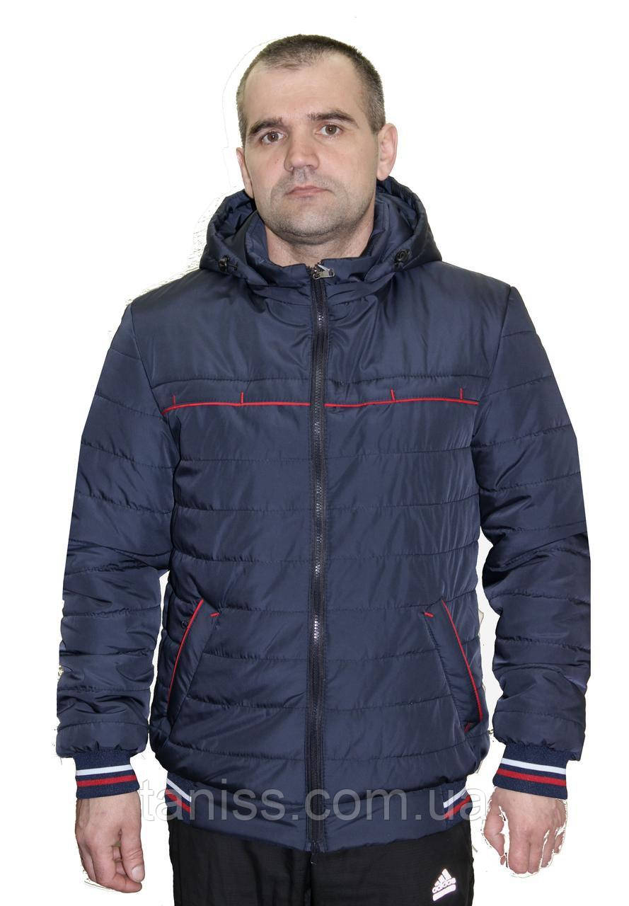 Стильная,демисезонная,мужская куртка,капюшон съемный, размеры 48-58, синий(02)чоловіча демісезонна куртка