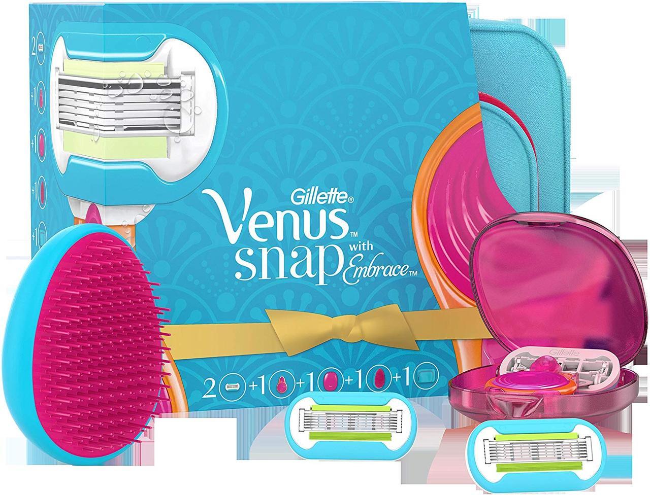 Подарочный набор для женщин Gillette Venus Snap with Embrace с косметичкой 01178