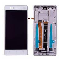 Дисплей Nokia 3 з сенсорним екраном та рамкою 20NE1SW0001 rev.A White (Original)