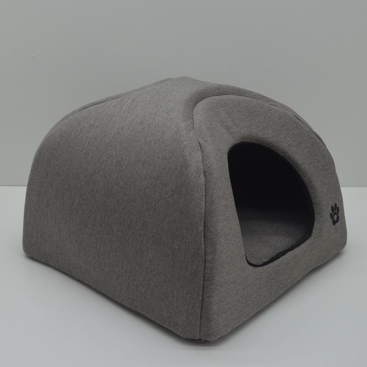 Домик юрта для котов и собак Loft №1 320х320х320 бежевый + коричневый