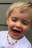 Бусы детские 31-32 см 100% натуральный цельный природный янтарь галтовка вес 6г, фото 5