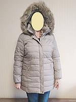 Куртка женская зимняя стеганая плащевка бежевая Dorothy Perkins (Размер 54)