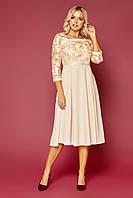 Стильное женское платье с сеткой и пайетками