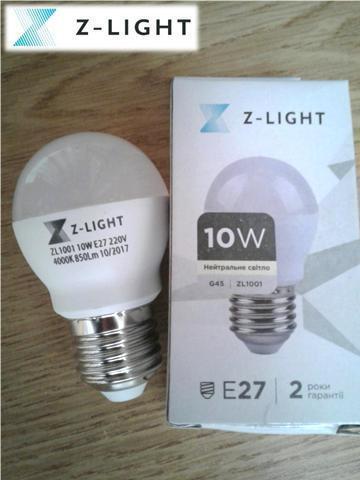 Светодиодная лампа 10W 6000K E27 Z-light