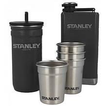 Набір Stanley Adventure (4 чарки х 0,059 л + футляр-фляга + фляга 0,236 л), чорний