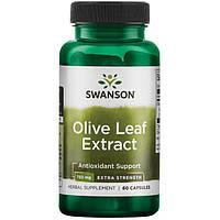Усиленный Экстракт Листьев Оливы, 750 мг. 60 капсул
