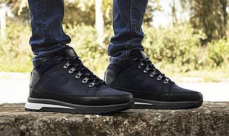 Ботинки мужские зимние New Balance 754, синие, кроссовки натуральная кожа, шерстяной мех, нью баланс