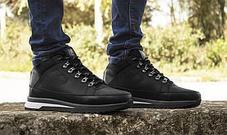 Ботинки мужские зимние New Balance 754, чёрные, кроссовки натуральная кожа, шерстяной мех, нью баланс