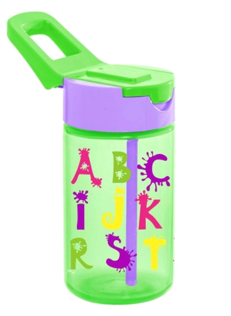 Бутылка для воды HEREVIN ABC 0.43 л С трубочкой Зеленый (161510-002)