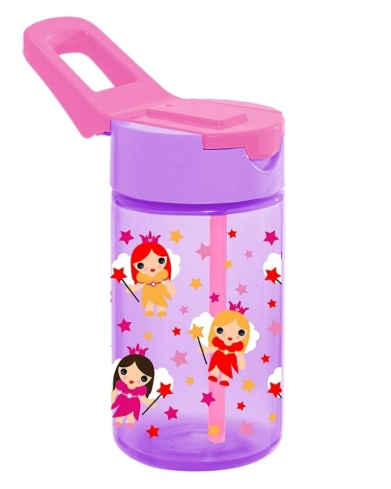 Бутылка для воды HEREVIN FAIRY 0.43 л С трубочкой Розовая (161510-003)