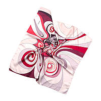 Платок шейный из шелка розово-бежевый (Ш-510-9)