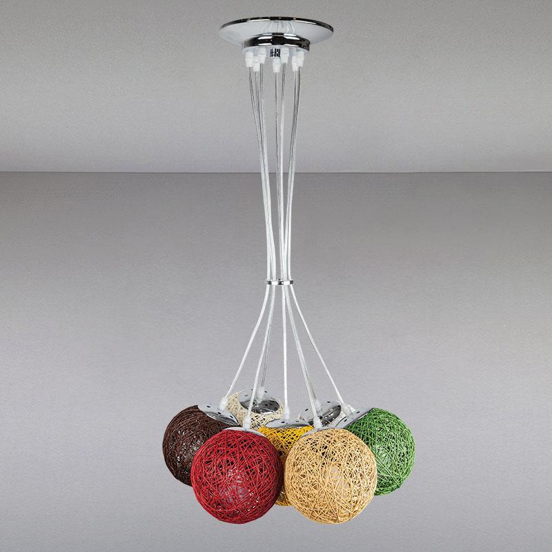 Люстра подвесная на семь ламп  LS-14016/7 MIX