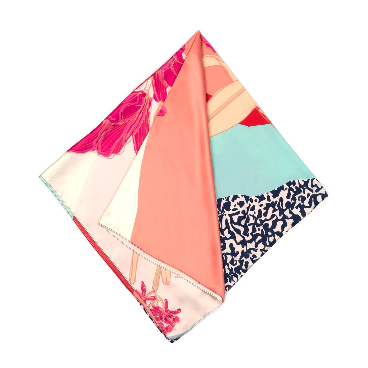Платок большой из шелка разноцветный (Ш-512-1)