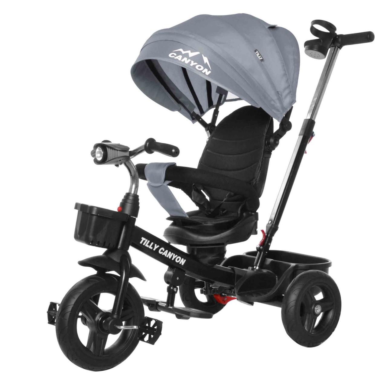 Велосипед триколісний TILLY Canyon T-384 Grey Гарантія якості Швидка доставка