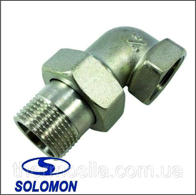 Американка-сгон 1 1/4 угловой, никель Solomon 1600