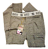 Люкс лосинки хлопковые женские Gucci, фото 4