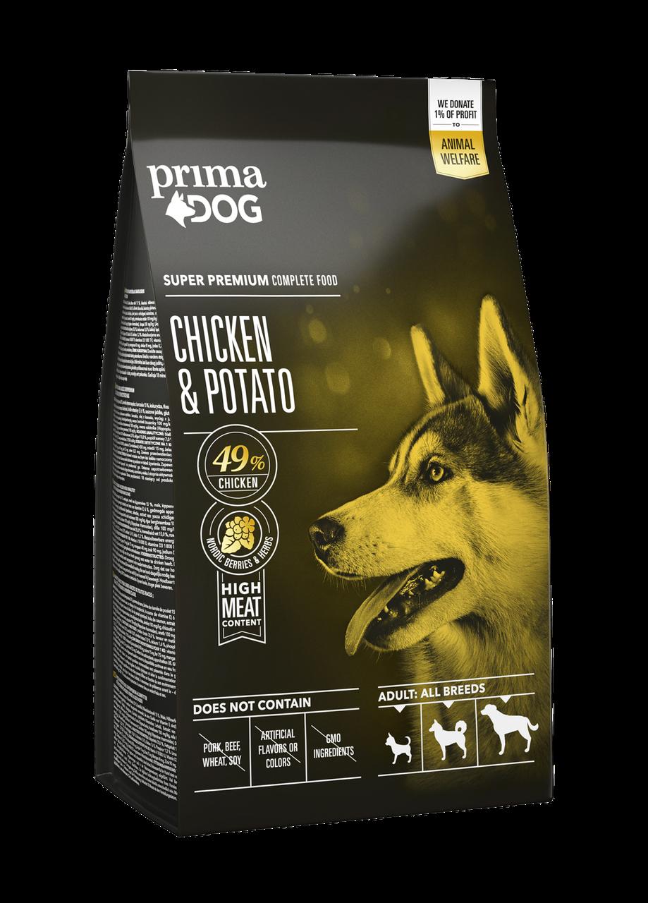 Сухий корм PrimaDog курка з картоплею для дорослих собак усіх порід