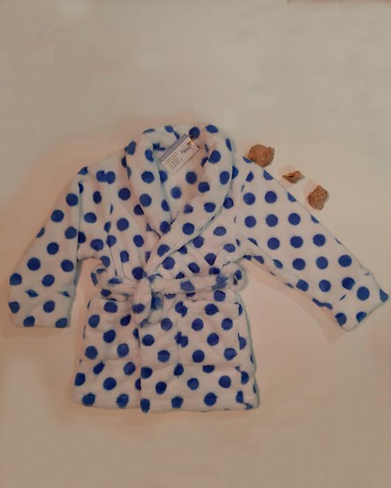 Халат для девочек горох голубой Велсофт рост 116; 134; 140;152