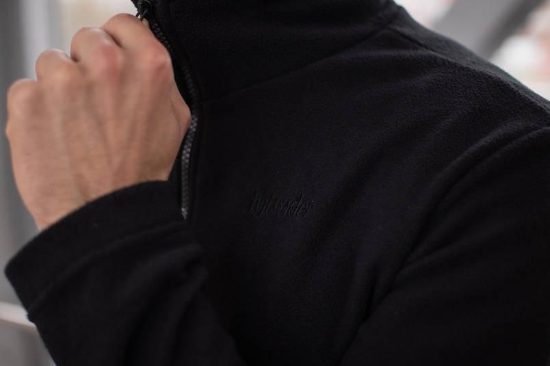 Мужская кофта флисовая на молнии черная Intruder, фото 2