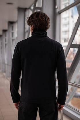 Мужская кофта флисовая на молнии черная Intruder, фото 3