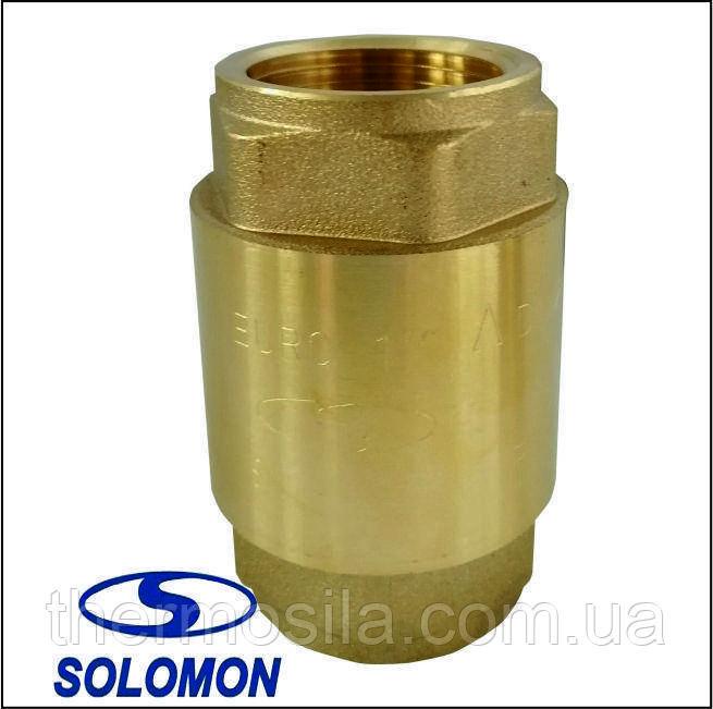 "Клапан обратного хода воды Solomon 1 "" EUROPA (6026) латунный шток"