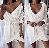 Женское модное платье на запах,ткань ангора,размеры:42-44,46-48., фото 4