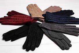 Перчатки FAMO Женские перчатки замшевые сенсорные Винс упаковка One size (PER1804) #L/A