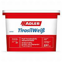 Фасадная краска Aviva Tirosilc-Color белая 9 л на основе силиколоновой смолы и чистого акрилата с п