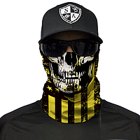 Трубчатая бандана SA Co. DON'T TREAD SKULL YELLOW & BLACK
