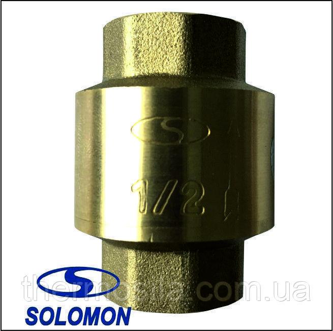 "Клапан обратного хода воды(C6022) 1/2"" Solomon латунный шток"