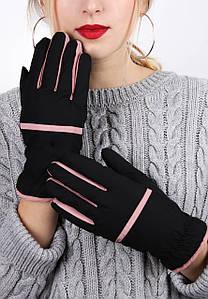 Перчатки FAMO Женские перчатки сенсорные Зарема черные One size (А-1254) #L/A