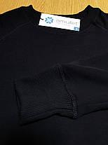 Свитшот мужской черный трехнить с начесем, фото 3