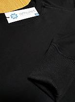 Свитшот мужской черный трехнить с начесем, фото 2