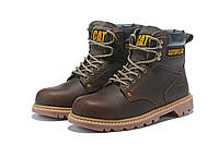 Оригинальные Мужские кожаные зимние ботинки CAT Caterpillar. 41-45