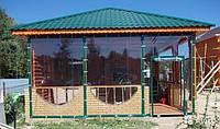 Мягкие окна, пленка ПВХ для гибких окон в беседку, веранду, ширина 1,5 м
